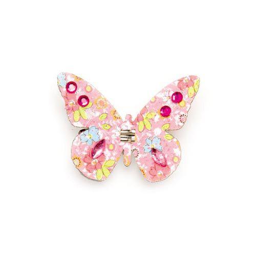 67101202 Бабочки со стразами и клипсой Glorex