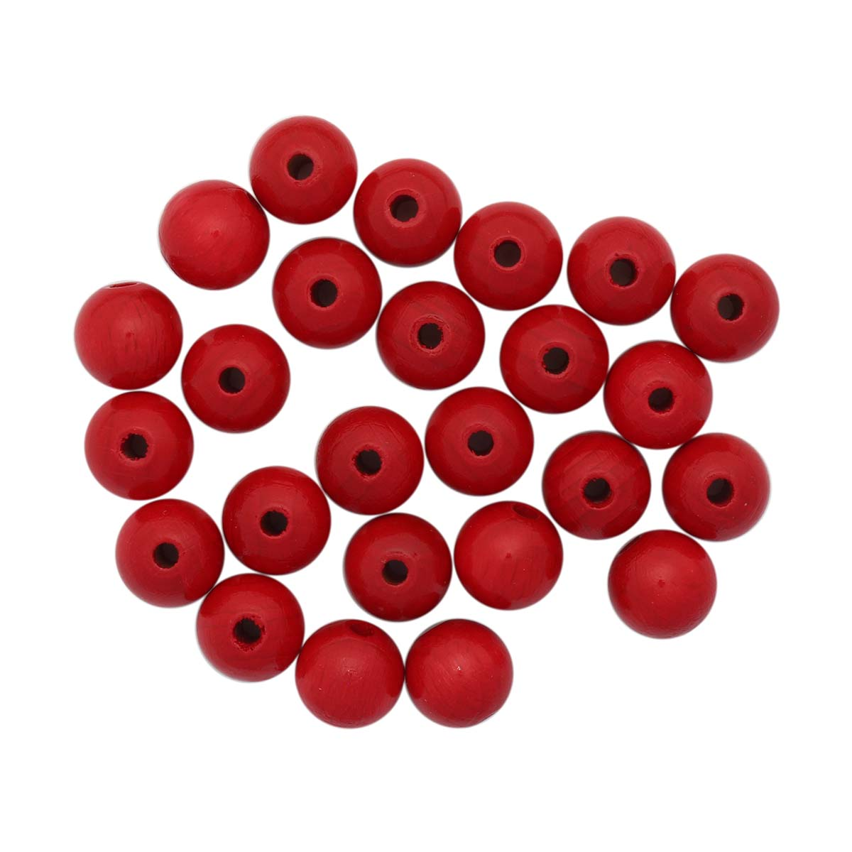 61655005 Бусины деревянные, красный, 12 мм, упак./28 шт., Glorex