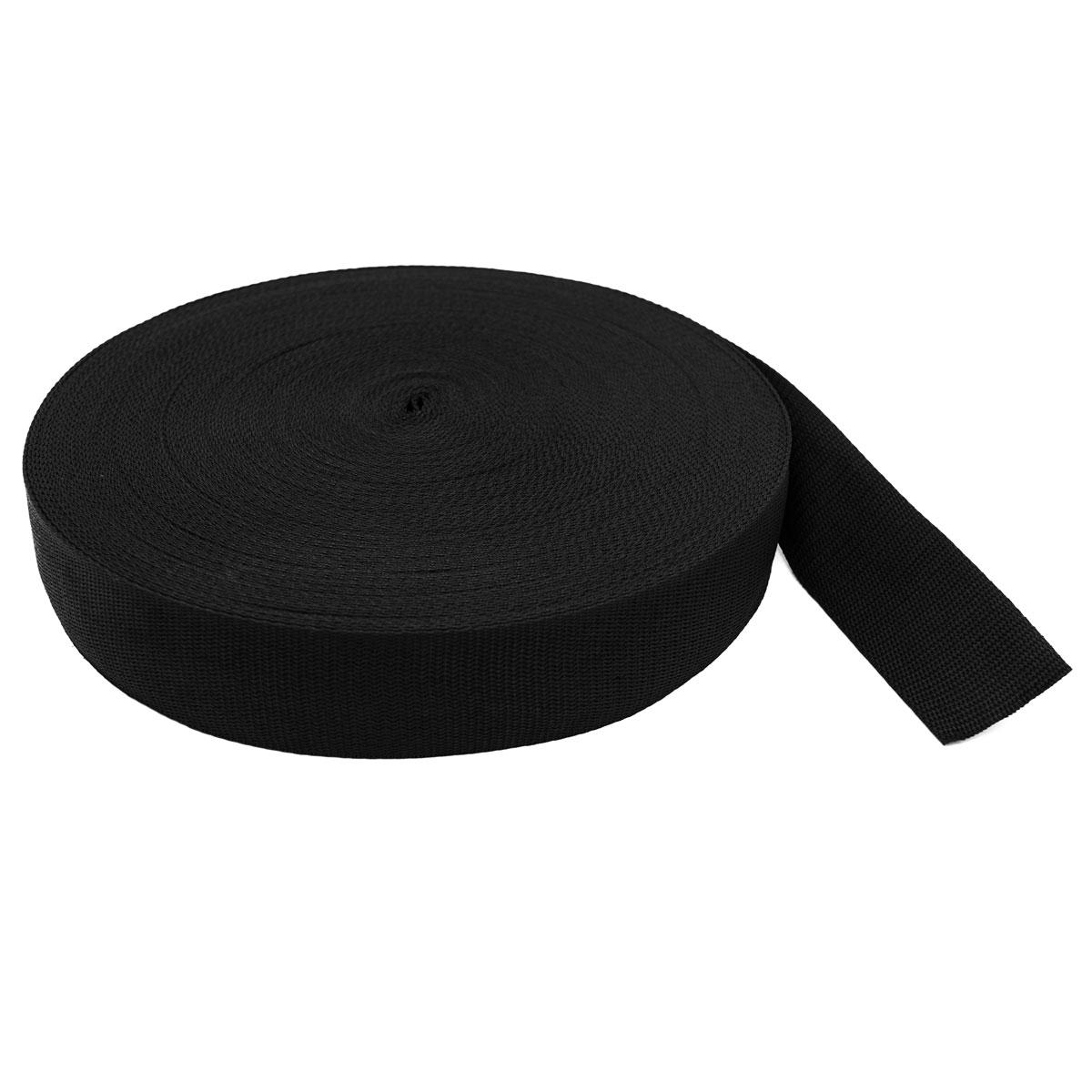 Лента ременная, черный, 50 мм*50 м