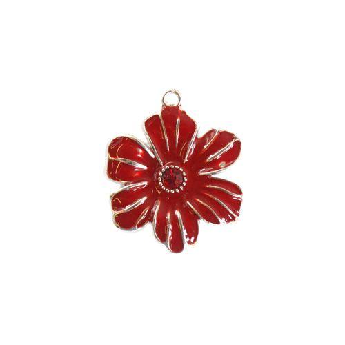 589 Подвеска металлическая 'Красный цветок', 28 мм, упак./5 шт., 'Астра'