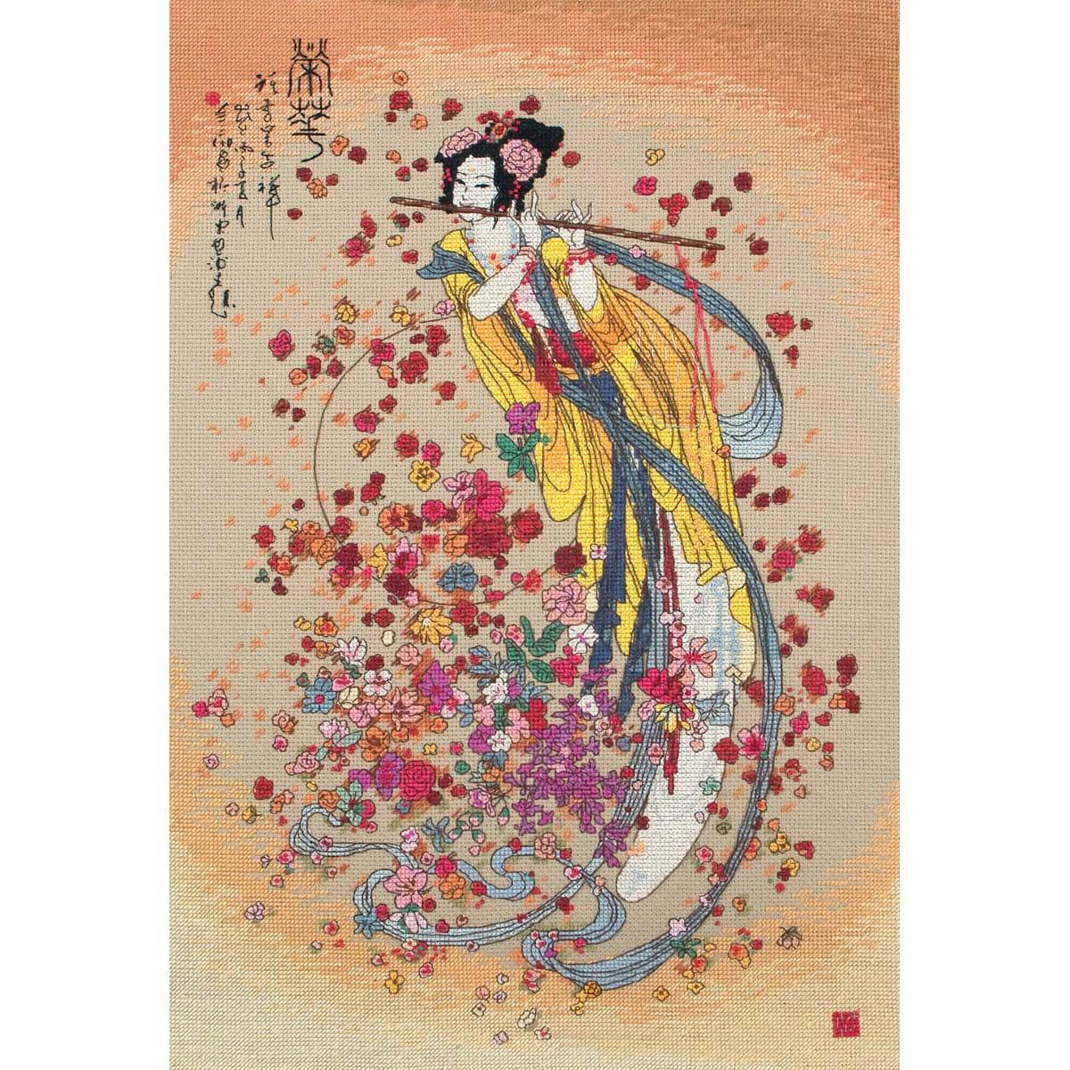 01205-5678000 Набор для вышивания MAIA 'Богиня процветания' 40х27см