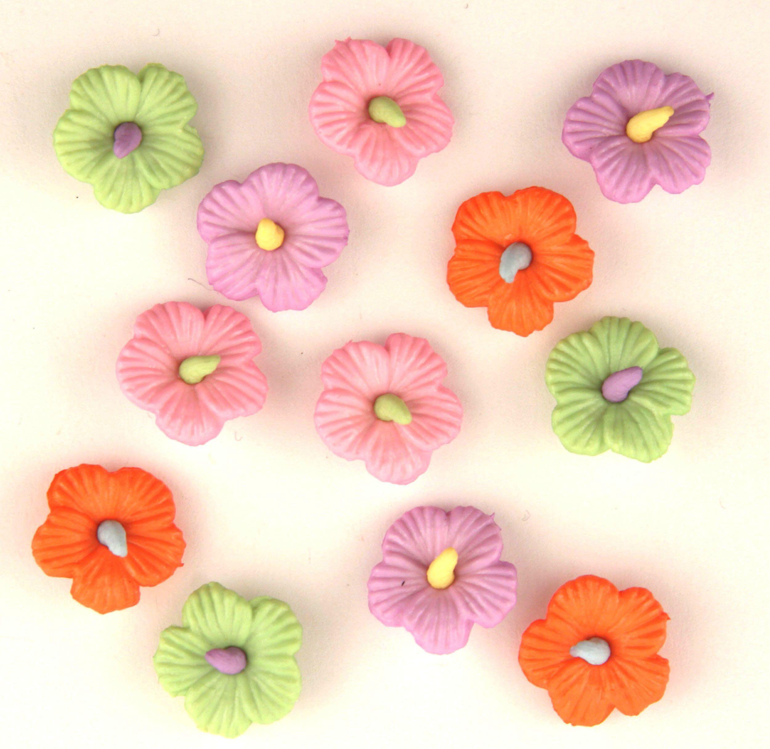 4244, Пуговицы. Гавайские цветы