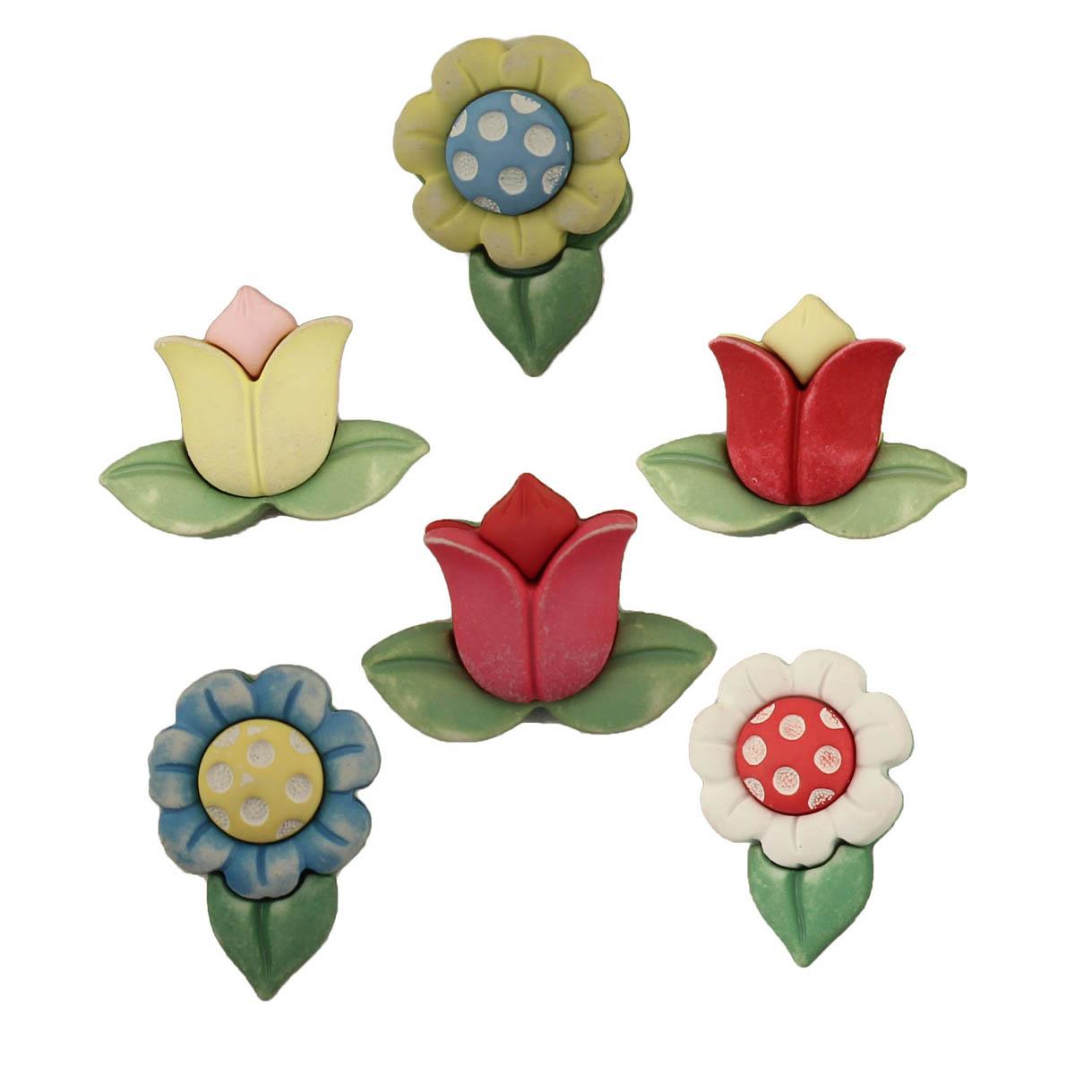 SF104, Пуговицы. Весенние цветы
