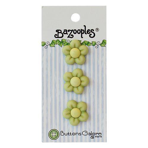 BZ133, Пуговицы. Зеленые цветы