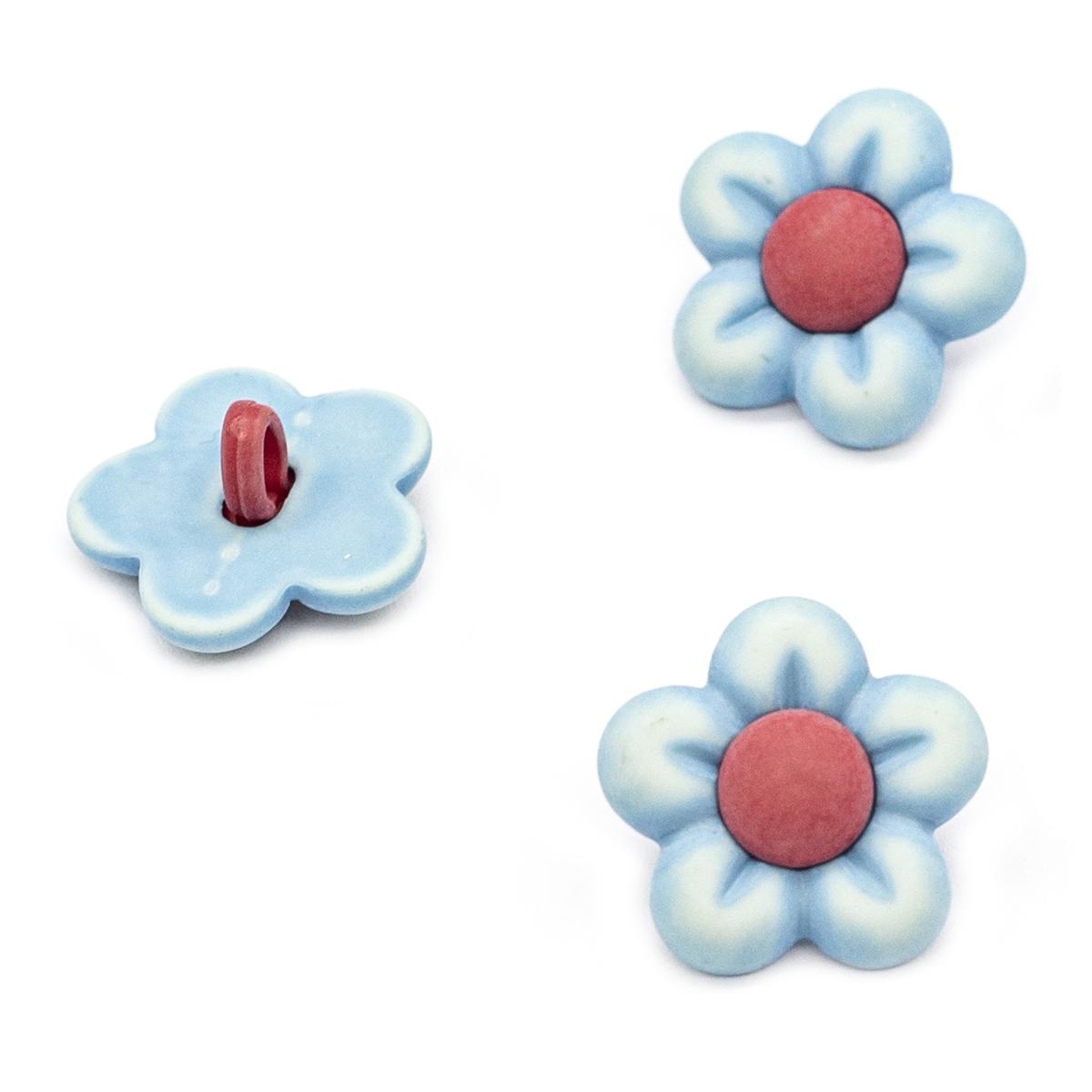 BZ134, Пуговицы. Голубые цветы
