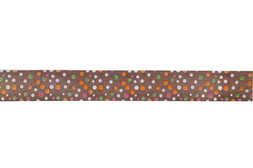Лента 2,5см атласная 'Разноцветный горошек'