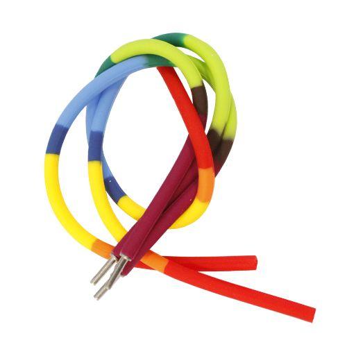 61632013 Силиконовые браслеты 21 см, 3шт, пятицветный Glorex