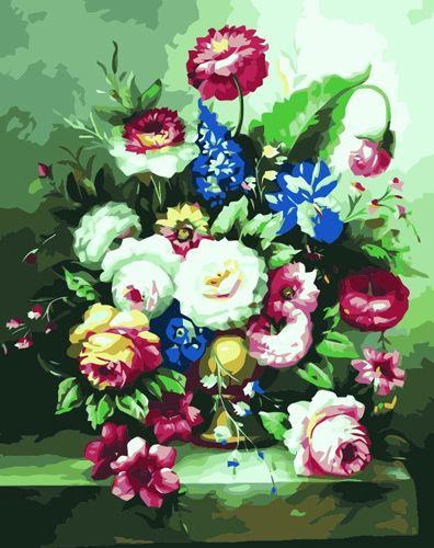 G138 Набор для раскрашивания по номерам 'Букет цветов', 40х50см