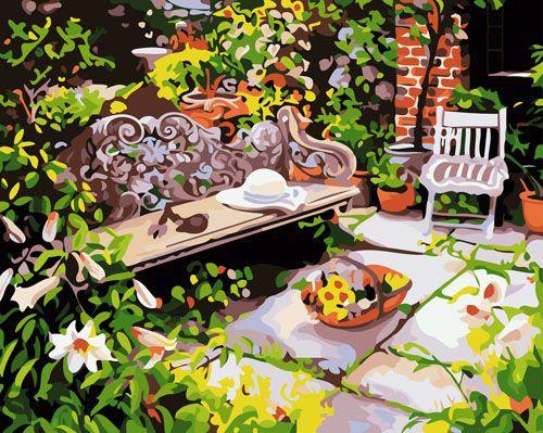 GX6096 Набор для раскрашивания по номерам 'В саду', 40*50см