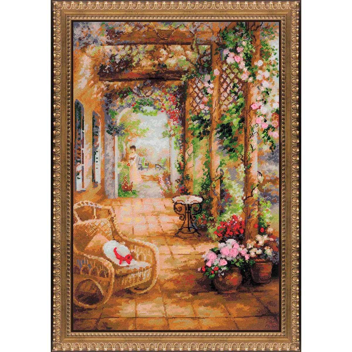100/043 Набор для вышивания Riolis 'Свидание в саду', 40*60 см