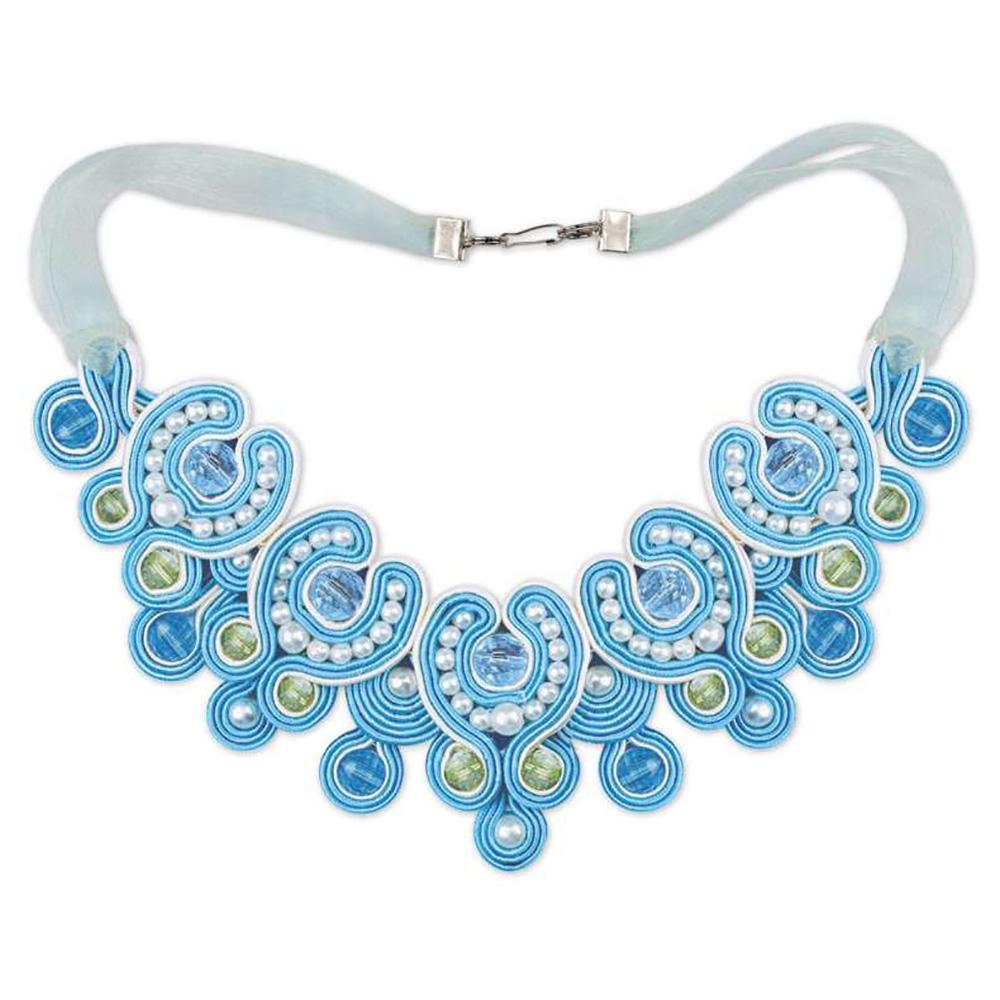 1422АС Набор для вышивания Riolis колье 'Голубая лагуна', 16*8 см