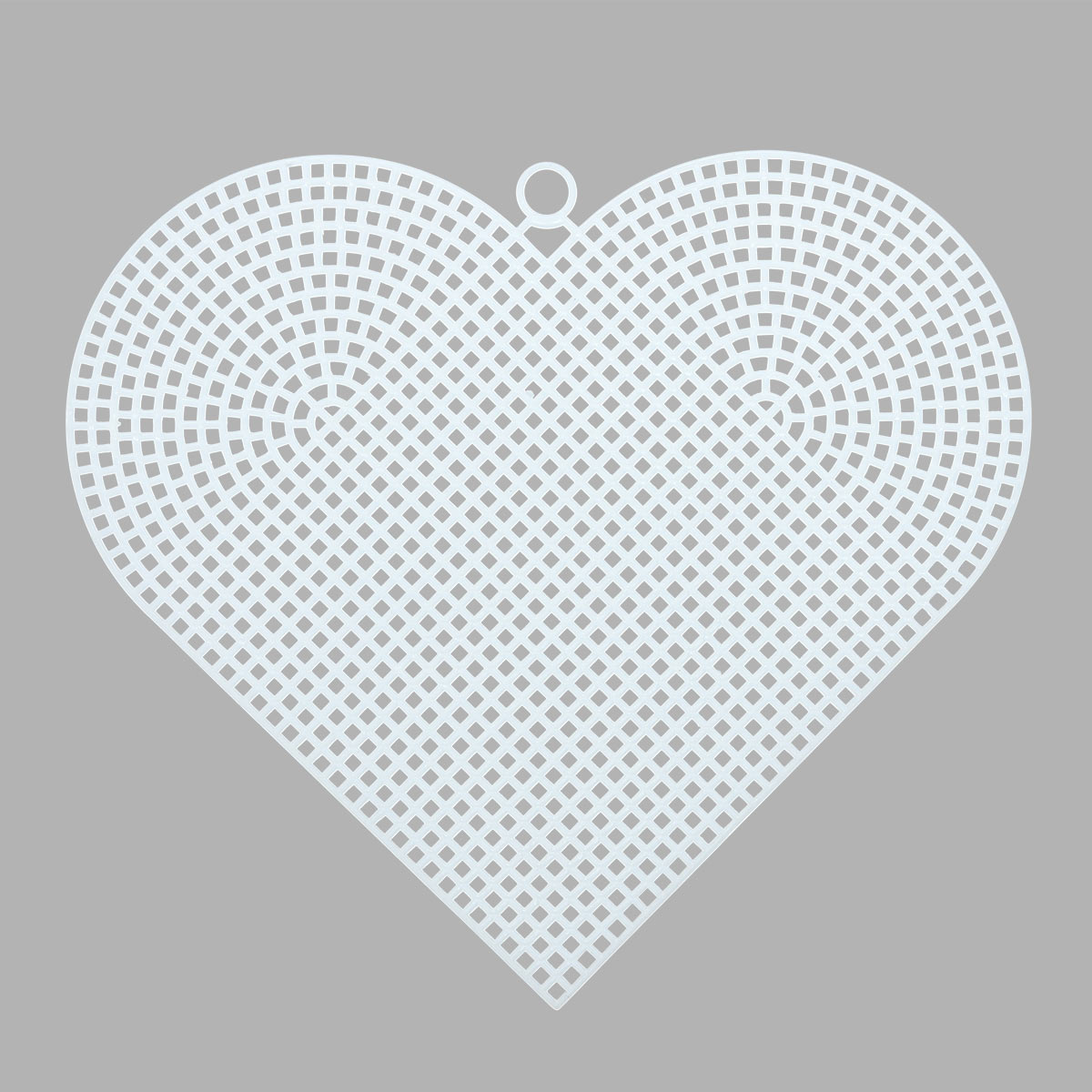 Канва пластиковая, больш. 'Сердце', 17*15 см, Bestex