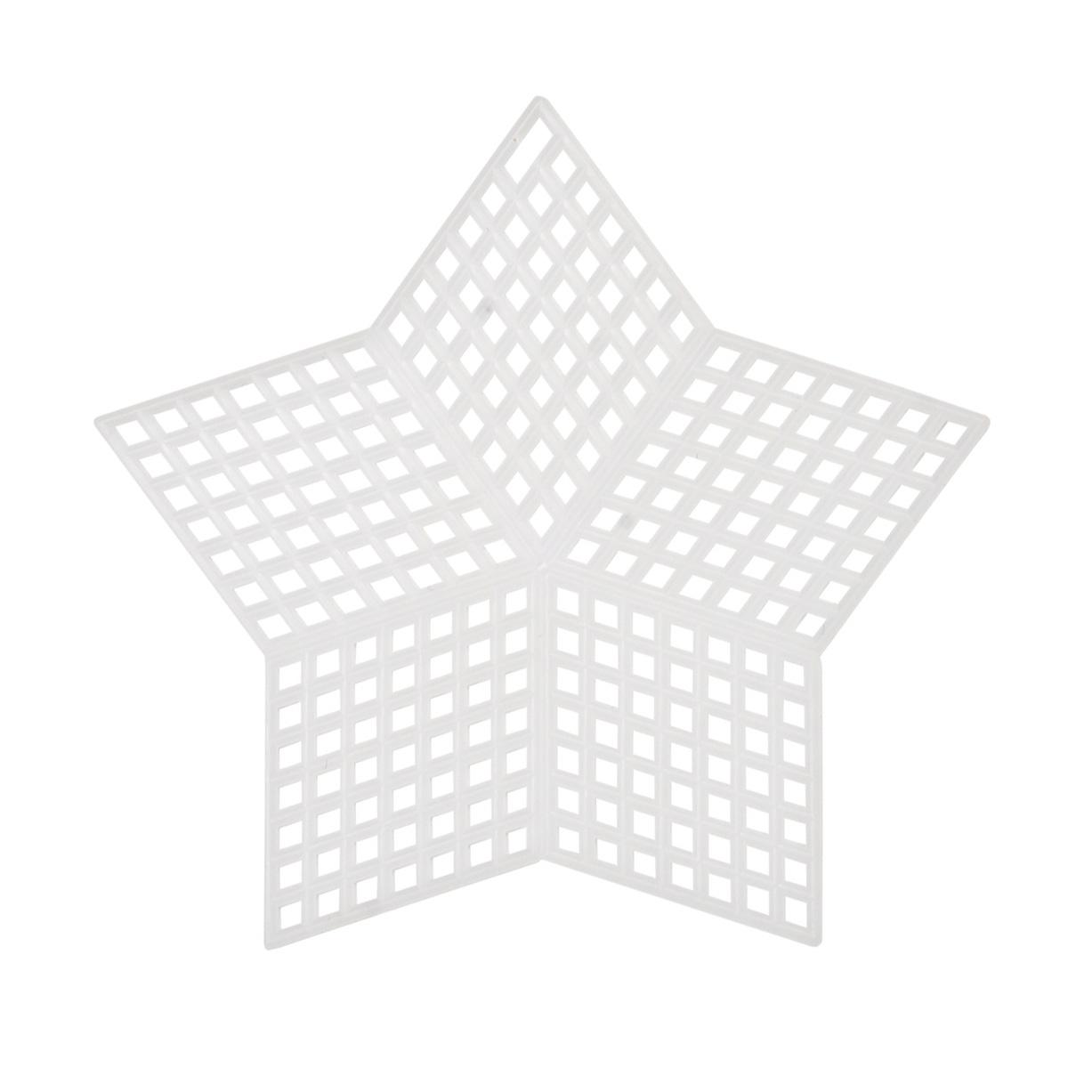 Канва пластиковая, мал. 'Звезда', 9*9 см, Bestex