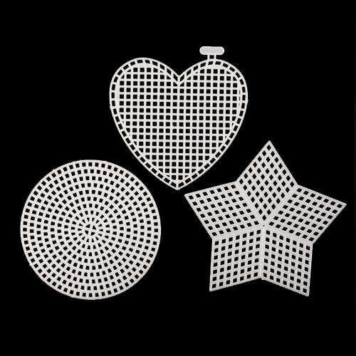Канва пластиковая, мал. микс (круг, сердце, звезда), упак./3 шт., Bestex