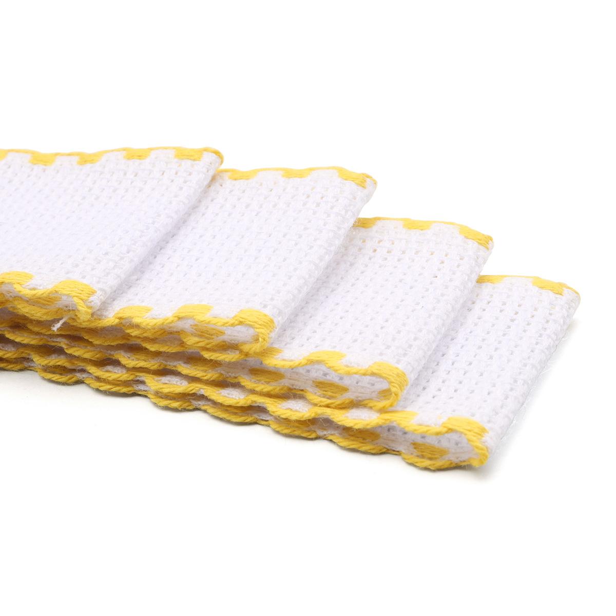 Канва 'лента', 1,5м*3,5см, 100% хлопок Bestex (белый/желтый) фото