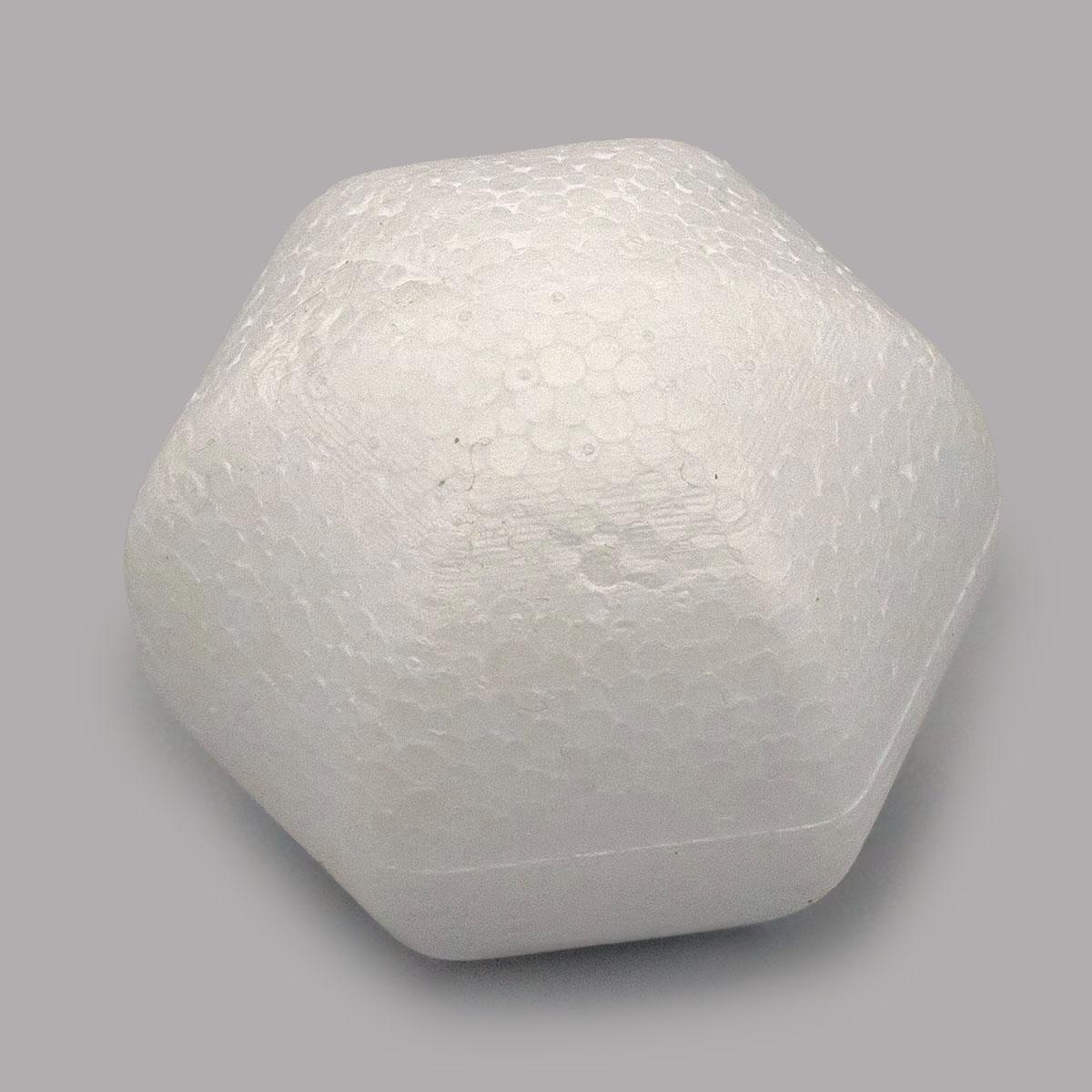 Заготовка для декорирования из пенопласта 'Многоугольный шар', 4*4см
