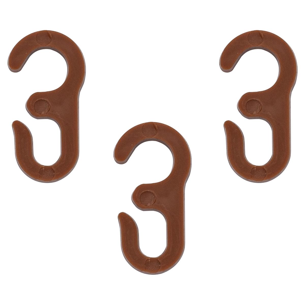 Крючок шторный LF-300, цв. св.коричневый (100 шт/уп)