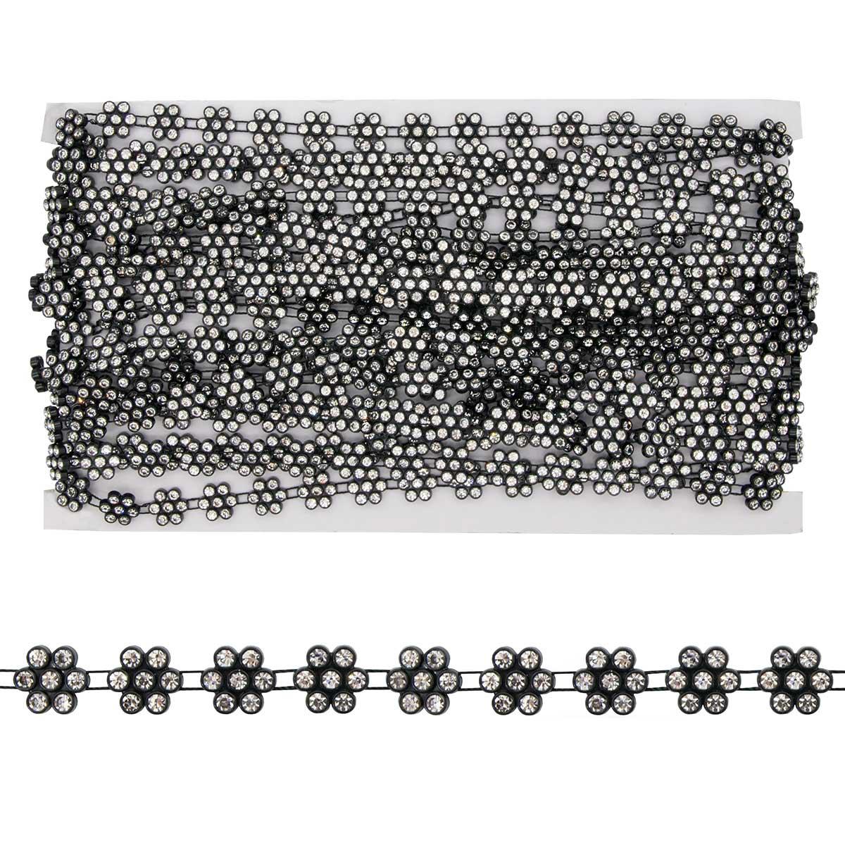 Тесьма со стразами PR03 10мм*9,14м