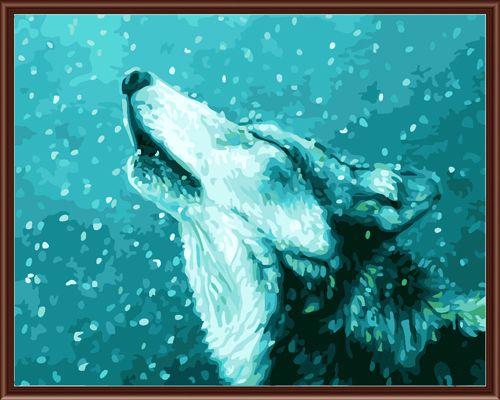 GX6238 Набор для раскрашивания по номерам 'Волк', 40*50см