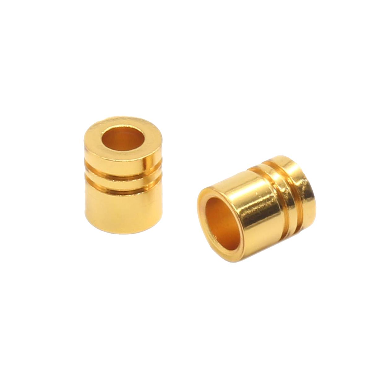 A3775 Наконечник 'Цилиндр' d=3/5мм, 8*7мм, металл (золото) фото