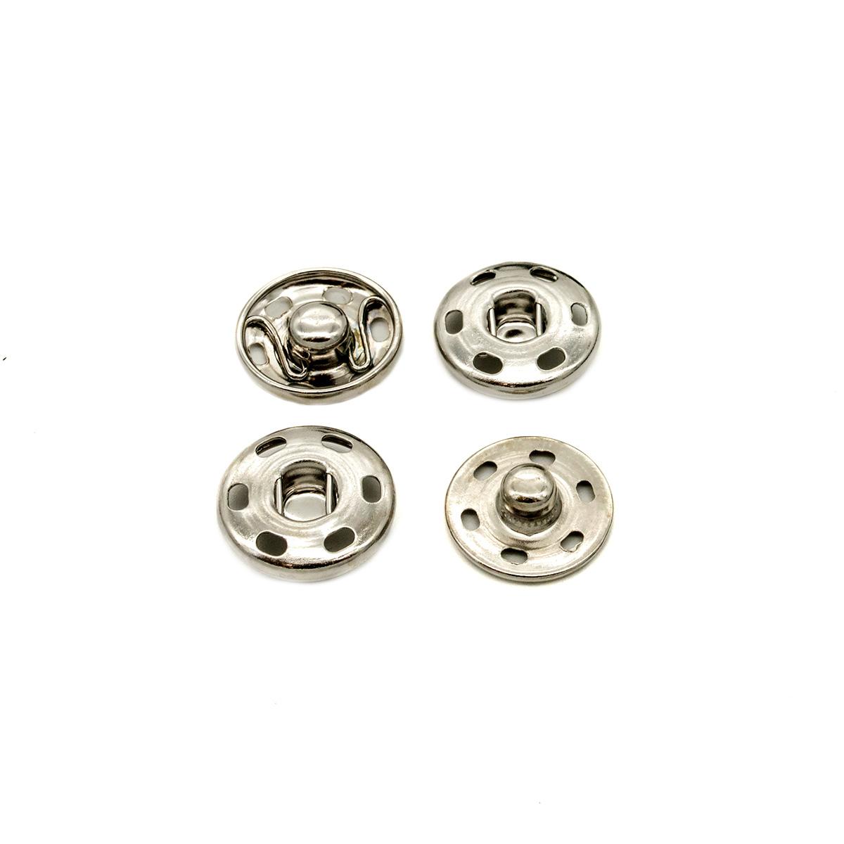 512118 Кнопки для легких тканей пришивные, никель, d 16 мм, упак./10 компл., Hobby&Pro