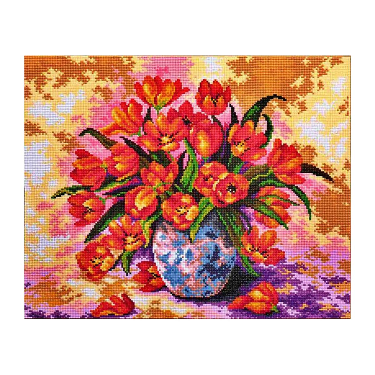 7121 Мозаика Cristal 'Букет тюльпанов', 55*44 см