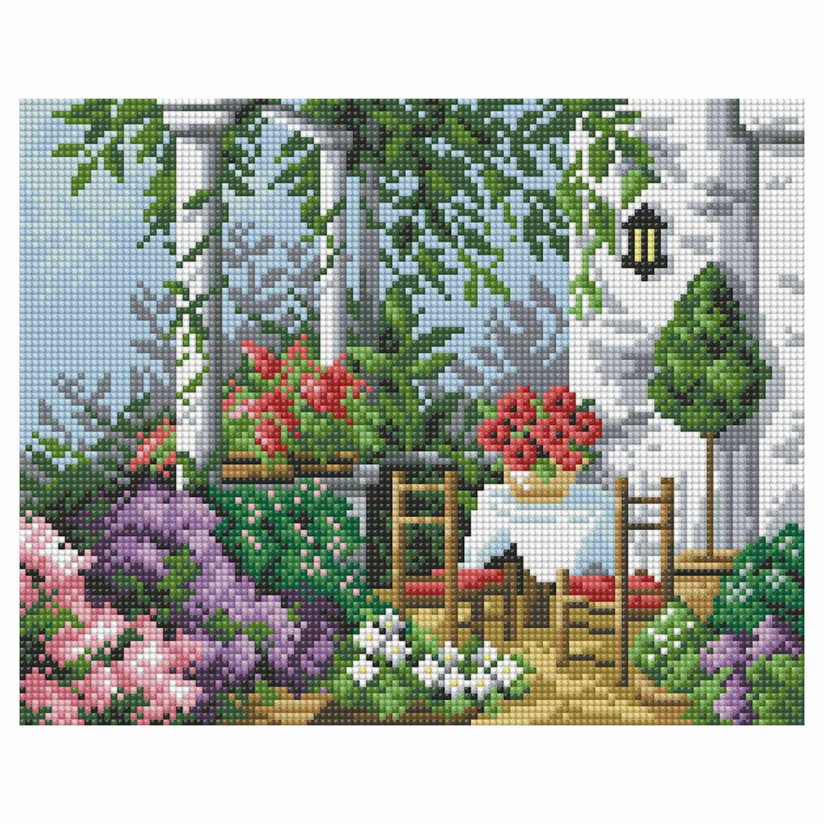 7208 Мозаика Cristal 'Дворик', 36*28 см