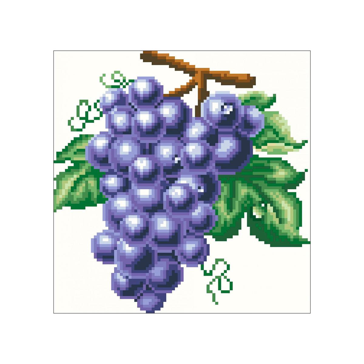7298 Мозаика Cristal 'Виноград', 30*32 см