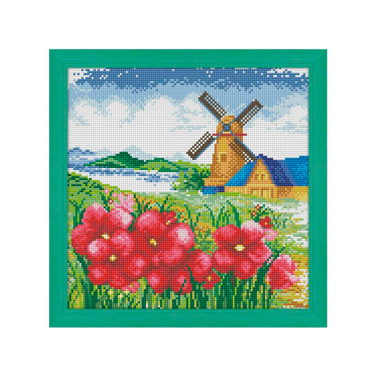 7493 Мозаика Cristal 'Мельница', 35*35 см