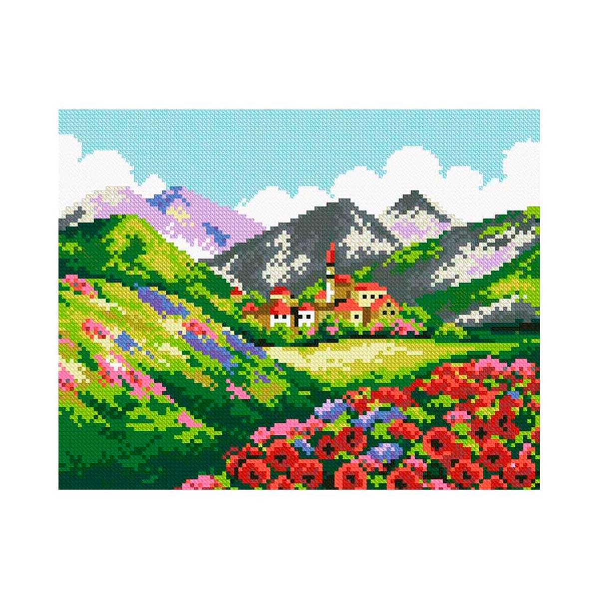 7508 Мозаика Cristal 'Город в горах', 35*30 см