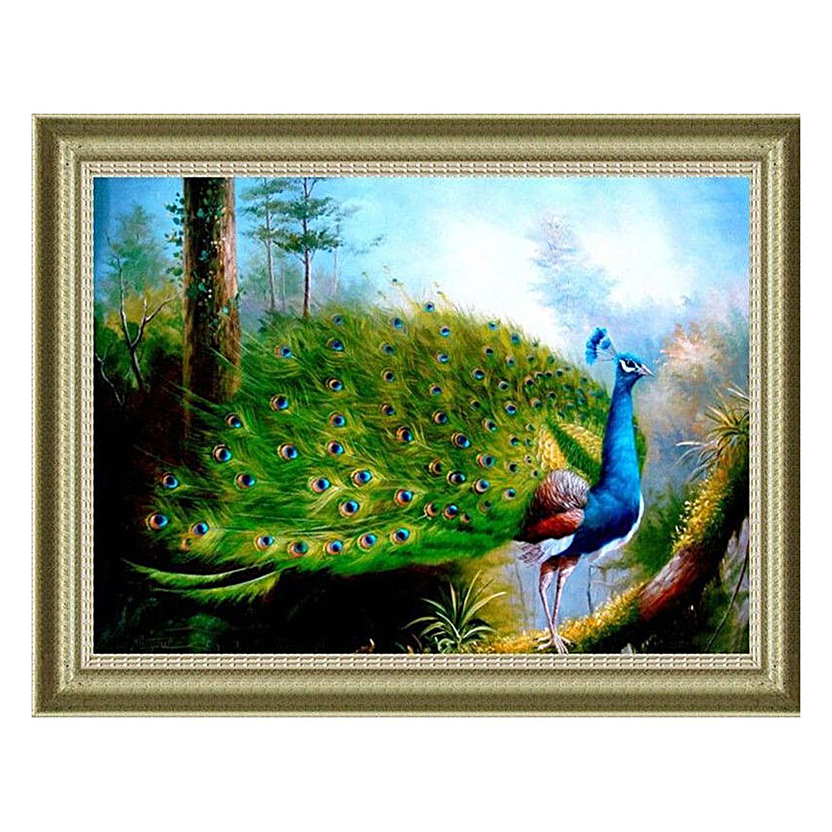1027 Мозаика Cristal 'Гордый павлин', 65*43 см