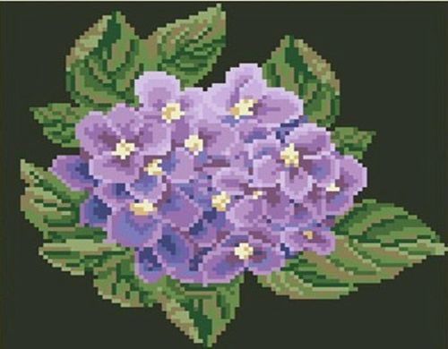 1270 Мозаика Cristal 'Цветок гортензии', 25*23 см