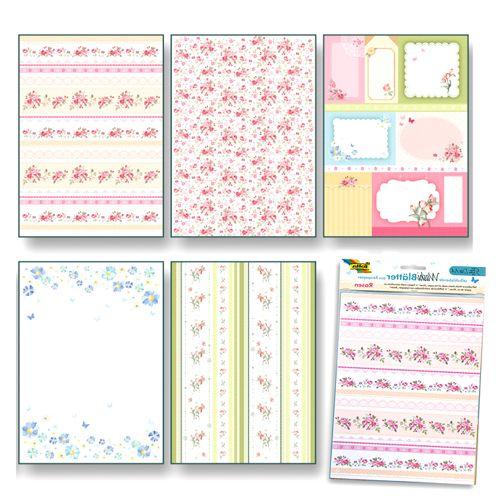 260404 Рисовая бумага 'Розы' А4, самоклеящаяся, упак./5 листов, Folia