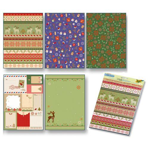 260407 Рисовая бумага 'Рождество' А4, самоклеящаяся, упак./5 листов, Folia