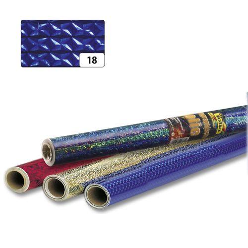 310/18 Голографическая бумага 'Бриллианты', голубой, самоклеящ., 40 см*1 м, 1 рулон, Folia