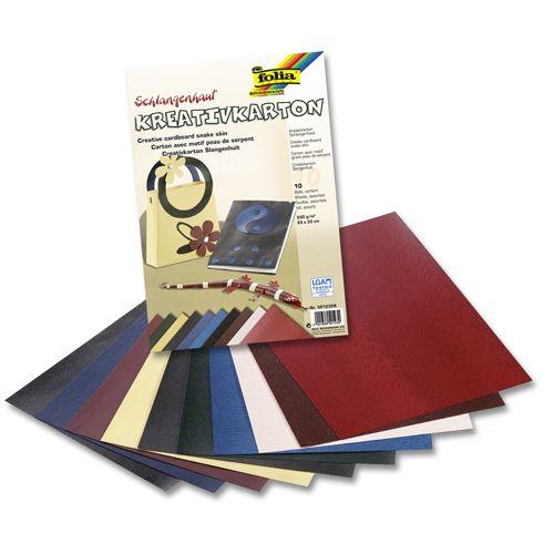 5012309 Картон текстурированный 'Змеиная кожа', 230 г/м², 23*33 см, упак./10 листов, Folia