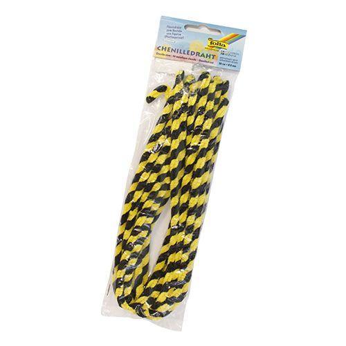 77899 Синель-проволока, черный/желтый, 50 см, упак./10 шт., Folia