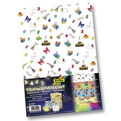 80409 Транспарентная бумага 'Дети', 115 г/м?, 23*33 см, упак./5 листов, Folia