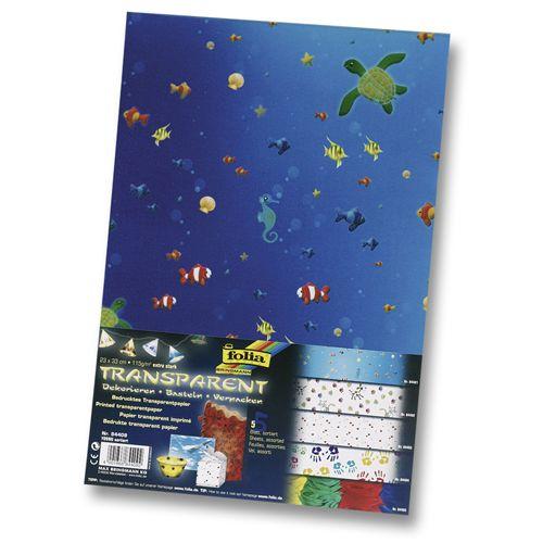 84409 Транспарентная бумага 'Молодость', 115 г/м², 23*33 см, упак./5 листов, Folia