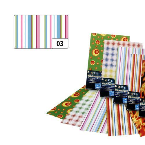 Транспарентная бумага 'Пастельные полосы', 115г/м², 50,5х70см (85103) Folia