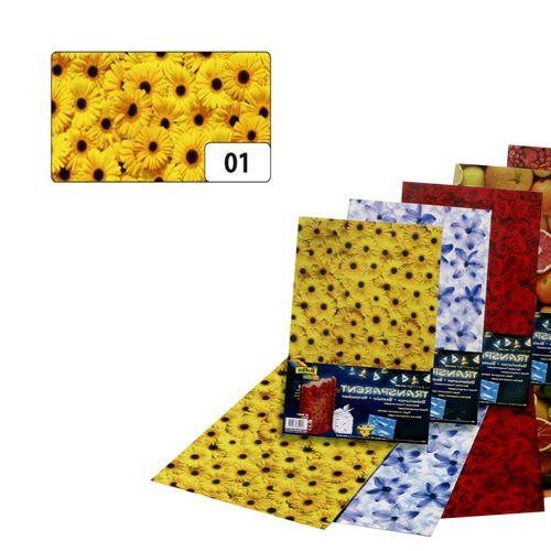 86101 Транспарентная бумага 'Гербера', 115 г/м², 50,5*70 см, Folia