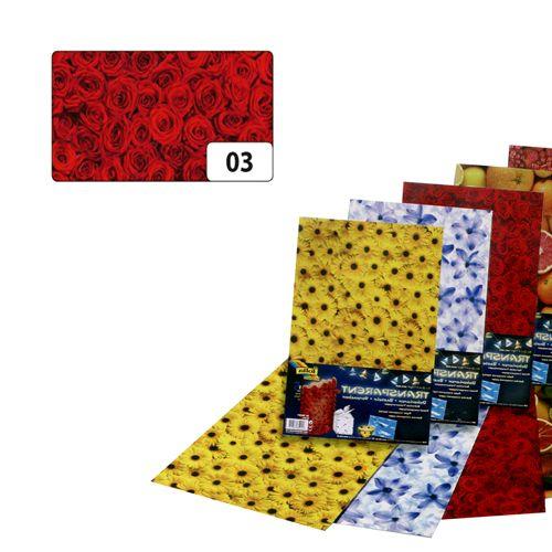 Транспарентная бумага 'Розы', 115г/м², 50,5х70см (86103) Folia