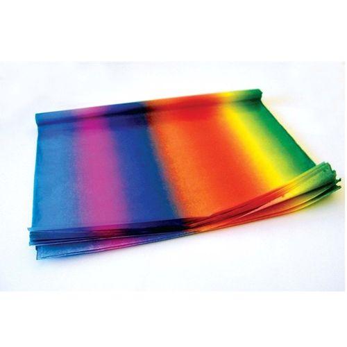 91077 Бумага тонкая (папиросная), радужный, 20 г/м², 50*70 см, упак./5 листов, Folia