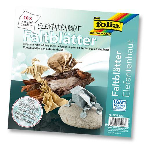 952323 Бумага Elephant для оригами с увлажнением, 110 г/м², 23*33 см, упак./10 листов, Folia