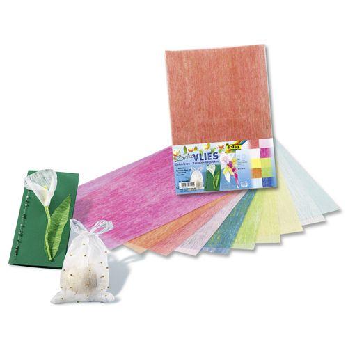 960409 Бумага волокнистая, 23*33 см, упак./10 листов, Folia