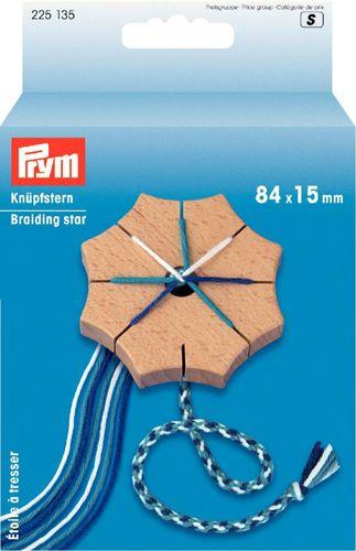 225135 Звезда для плетения шнуров кумихимо, дерево, 8,4*1,5 см, Prym