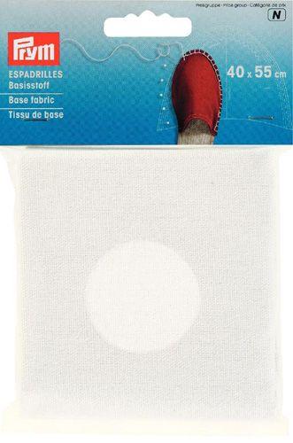 932400 Материал для верха эспадрилей, белый, 40*55 cм, Prym