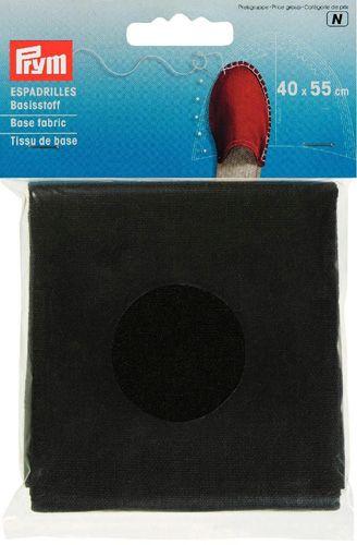 932401 Материал для верха эспадрилей, черный, 40*55 cм, Prym