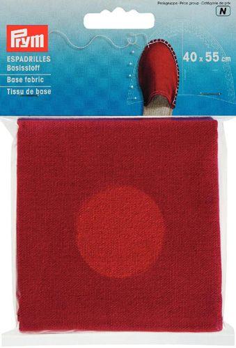 932403 Материал для верха эспадрилей, красный, 40*55 cм, Prym