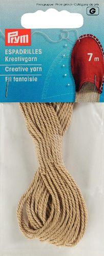 932604 Декоративная нить для эспадрилей, песочный, 7 м, Prym